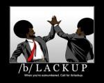 12564 - 4chan afro blackup motivational necktie suit